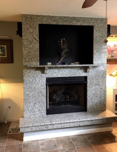 Azul Platino Fireplace